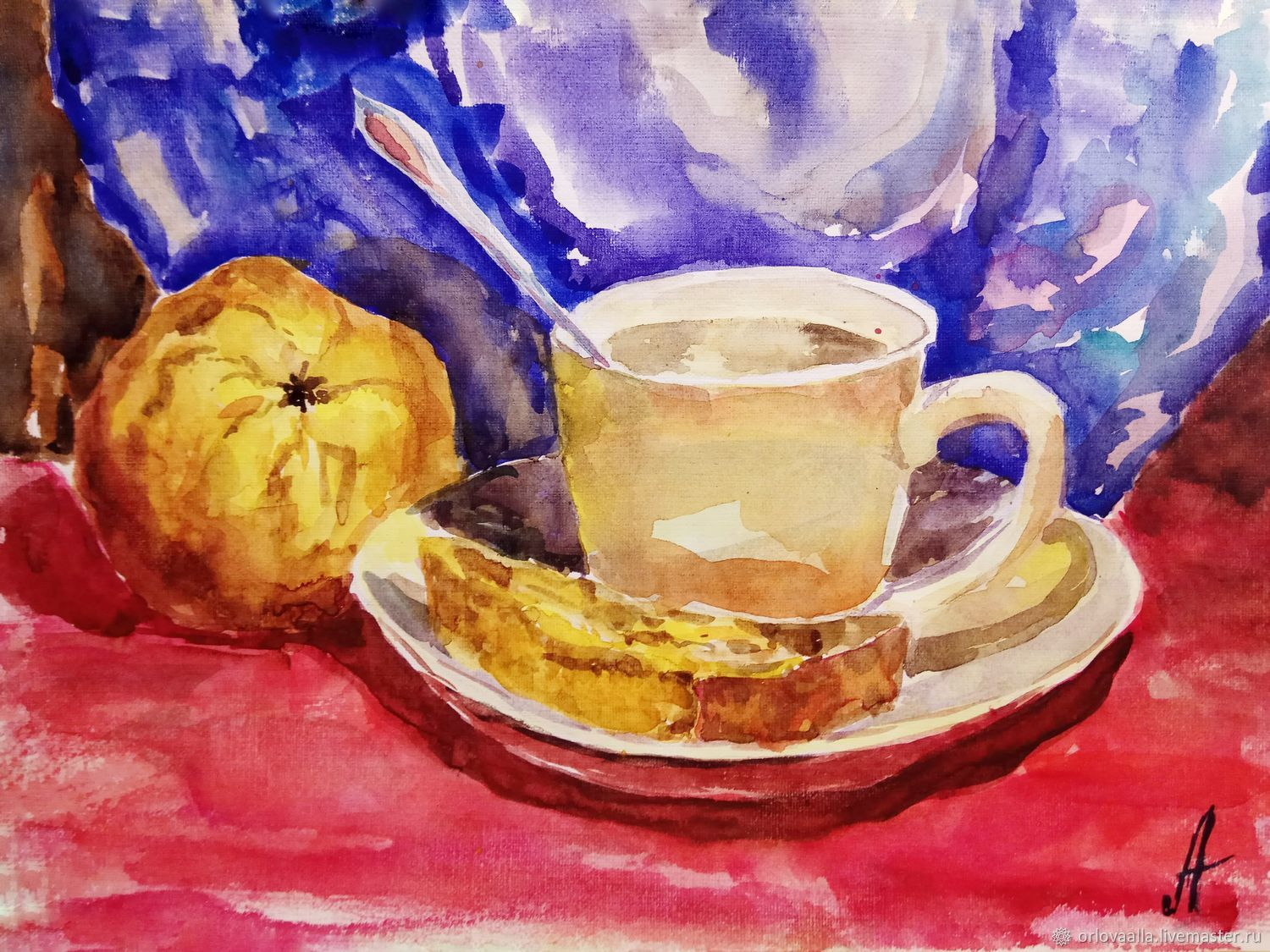 Painting A Cup Of Tea In The Kitchen Interior, Pictures, Samara,  Фото №1