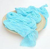 Работы для детей, handmade. Livemaster - original item A gauze wrapping for the photo shoot newborn turquoise. Handmade.