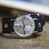 Украшения handmade. Livemaster - original item Retro quartz wrist watch Black MART. Handmade.