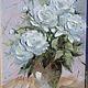 Картины цветов ручной работы. Ярмарка Мастеров - ручная работа. Купить Белые пионы. Handmade. Разноцветный, картина, картина для интерьера