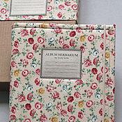 Канцелярские товары handmade. Livemaster - original item Album for a herbarium Candy roses (A4, for 20 plants). Handmade.