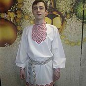 Русский стиль handmade. Livemaster - original item Embroidery men`s