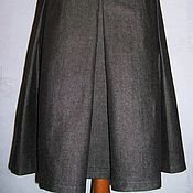 Одежда handmade. Livemaster - original item Skirt wide yoke with pleats (wool-cotton). Handmade.