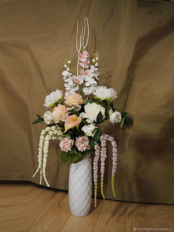 Цветы в вазе своими руками из искусственных цветов 873