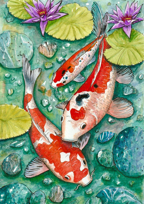 Карпы, Иллюстрации, Санкт-Петербург,  Фото №1