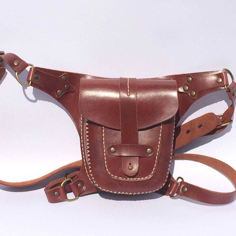 Поясные сумки ручной работы. Ярмарка Мастеров - ручная работа. Купить Сумка набедренная. Handmade. Кожаная сумка