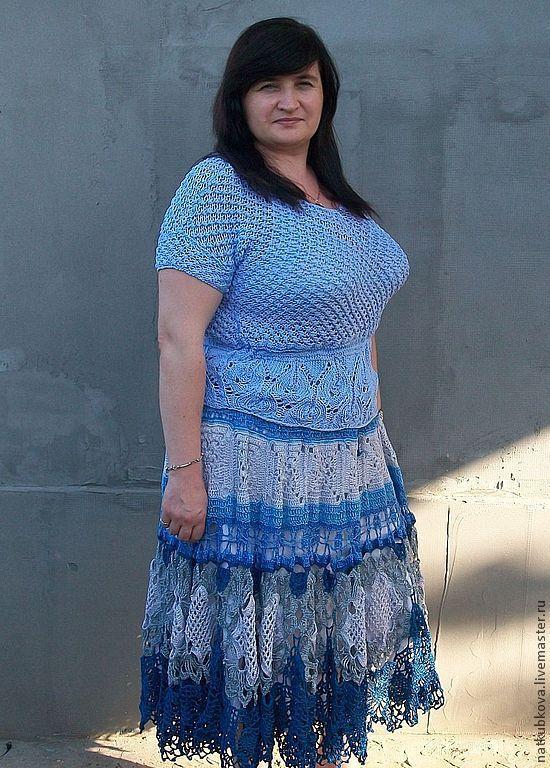 Вязаные юбки большие размеры