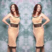 Одежда ручной работы. Ярмарка Мастеров - ручная работа Платье Крем Брюле. Handmade.