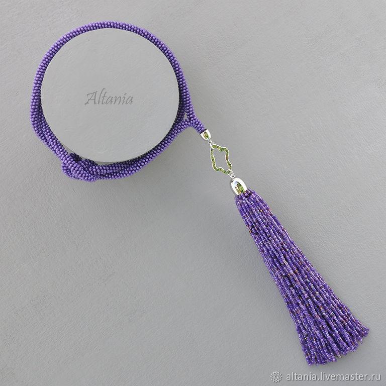 BlackBerry jam - purple with pendant with brush, Necklace, Sarov,  Фото №1