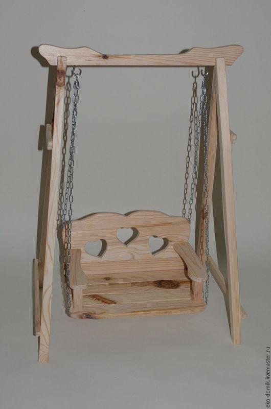 Куклы Тильды ручной работы. Ярмарка Мастеров - ручная работа. Купить Деревянные качели большие для Тильды и других кукол. Handmade.