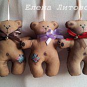 Куклы и игрушки ручной работы. Ярмарка Мастеров - ручная работа Мишка кофейный с бубенчиком. Handmade.