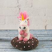 Куклы и игрушки handmade. Livemaster - original item The unicorn on the donut. Handmade.