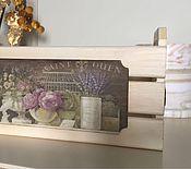 Для дома и интерьера ручной работы. Ярмарка Мастеров - ручная работа Короб Цветы Парижа. Handmade.