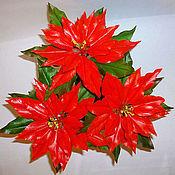 Цветы и флористика ручной работы. Ярмарка Мастеров - ручная работа Пуансетия или Рождественская звезда. Handmade.