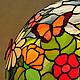 Настольная лампа «Полянка», Тиффани, стекло, D – 40 см, 365 деталей.