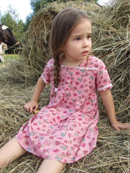 """Одежда для девочек, ручной работы. Ярмарка Мастеров - ручная работа. Купить Платье """" Таисия"""". Handmade. Коралловый, винтажный стиль"""