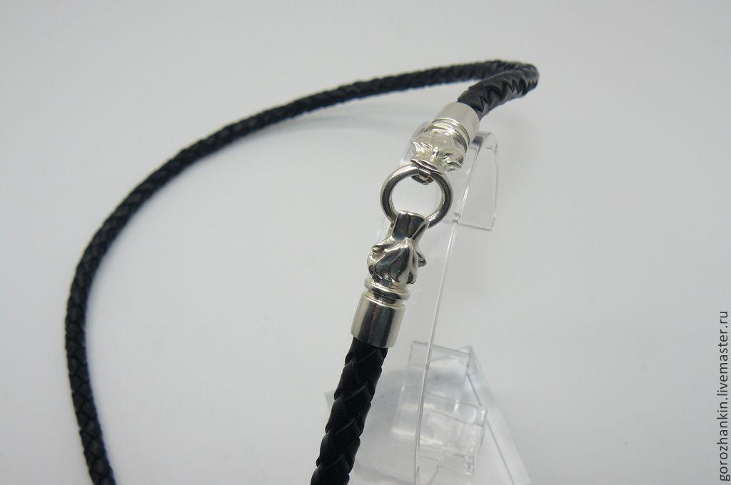 Кожаный шнурок на шею своими руками 65