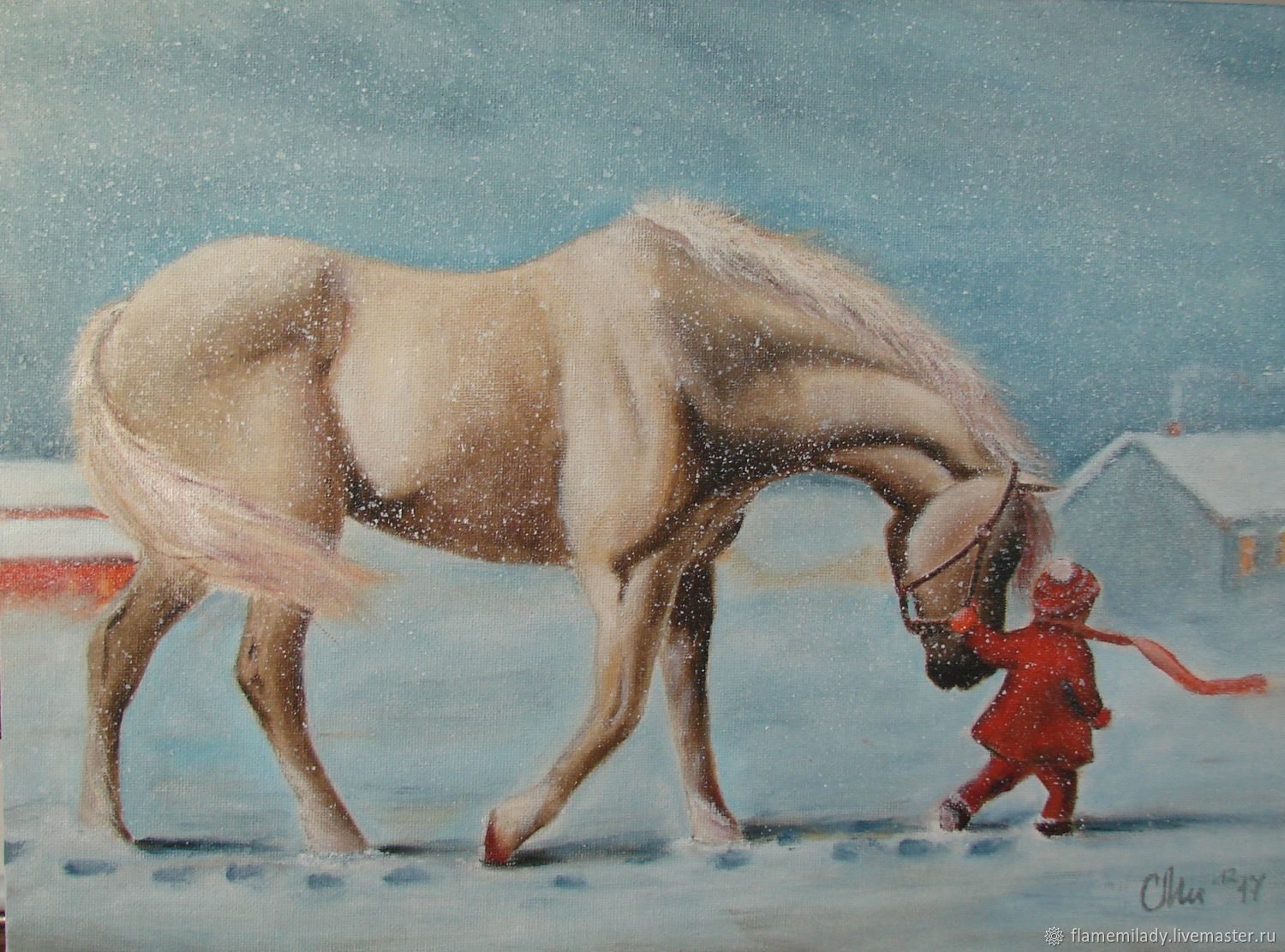 Painting with a child the Way home oil painting, Pictures, Ekaterinburg,  Фото №1