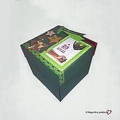 """Подарки на 23 февраля ручной работы. Ярмарка Мастеров - ручная работа Подарки на 23 февраля: Фотокоробка """"Куб 15х15"""". Handmade."""