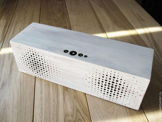 Декор техники ручной работы. Ярмарка Мастеров - ручная работа. Купить Bluetooth колонка, акустическая система. Handmade. Белый, колонка
