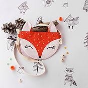 Сумки ручной работы. Ярмарка Мастеров - ручная работа Сумка Лиса Детская сумка Скандинавский стиль Оранжевый Для девочки. Handmade.