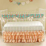 Для дома и интерьера ручной работы. Ярмарка Мастеров - ручная работа Юбка для кроватки малыша. Handmade.