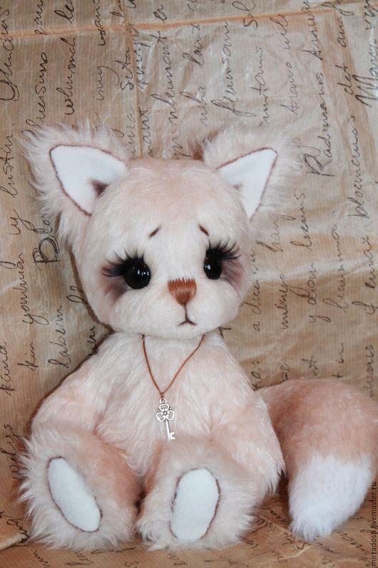 Мишки Тедди ручной работы. Ярмарка Мастеров - ручная работа. Купить Лисёнок Персик. Handmade. Бежевый, игрушка в подарок, тедди