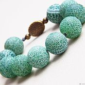 Rosary handmade. Livemaster - original item Earthy agate beads crackle. Handmade.