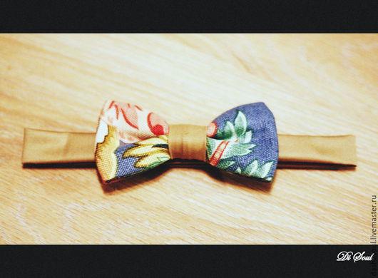 Галстуки, бабочки ручной работы. Ярмарка Мастеров - ручная работа. Купить галстук-бабочка унисекс. Handmade. Бежевый, хлопковая ткань