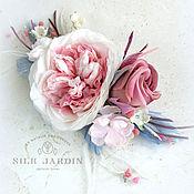 handmade. Livemaster - original item Flower hair comb Pastel flower Bridal Spring bridal. Handmade.