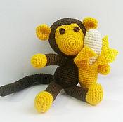 Куклы и игрушки ручной работы. Ярмарка Мастеров - ручная работа Обезьянка с бананом. Handmade.