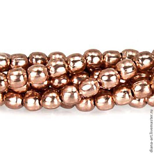 Для украшений ручной работы. Ярмарка Мастеров - ручная работа. Купить Бусины шарики розовое золото 2 мм. Handmade.