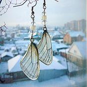 """Украшения ручной работы. Ярмарка Мастеров - ручная работа Серьги """"крылья бабочки белянки"""". Handmade."""
