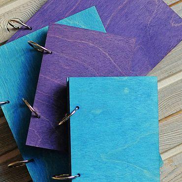 Stationery handmade. Livemaster - original item A5 and A6 colored wood cover notepads. Handmade.