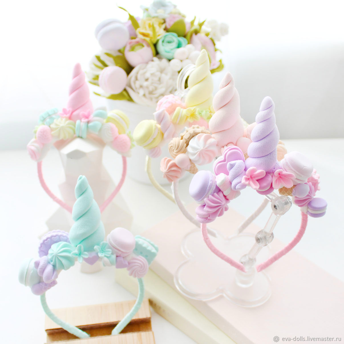 Unicorn headband for Blythe doll, Clothes for dolls, Moscow,  Фото №1