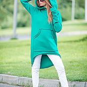 Одежда handmade. Livemaster - original item sweatshirt. Green sweatshirt. Hoodie. Fashionable sweatshirt.. Handmade.