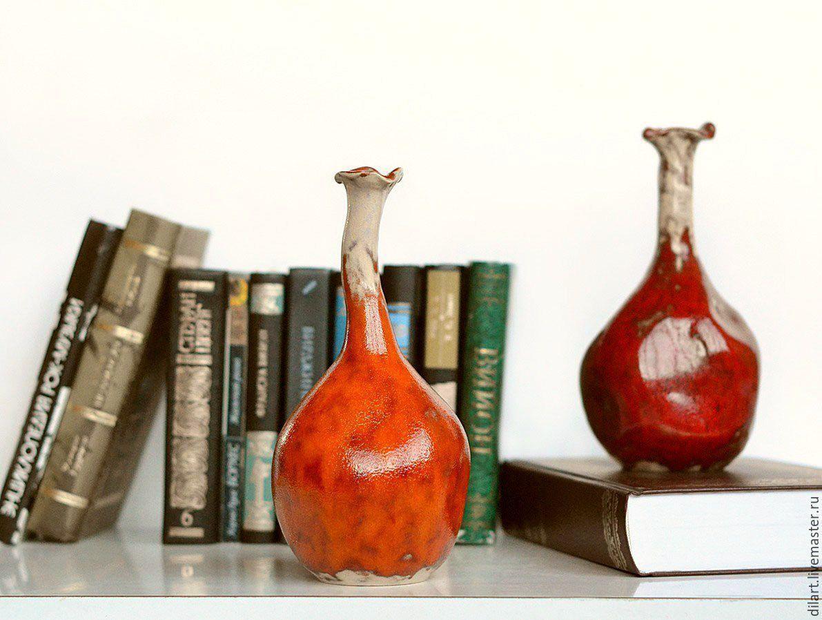 Керамическая интерьерная ваза бутыль Жизнь на Марсе