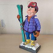 """Картины и панно ручной работы. Ярмарка Мастеров - ручная работа Кукла """"Лыжник"""". Handmade."""