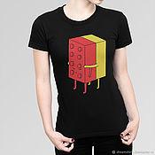 """Одежда handmade. Livemaster - original item Футболка хлопковая """"Обнимашки Лего"""". Handmade."""