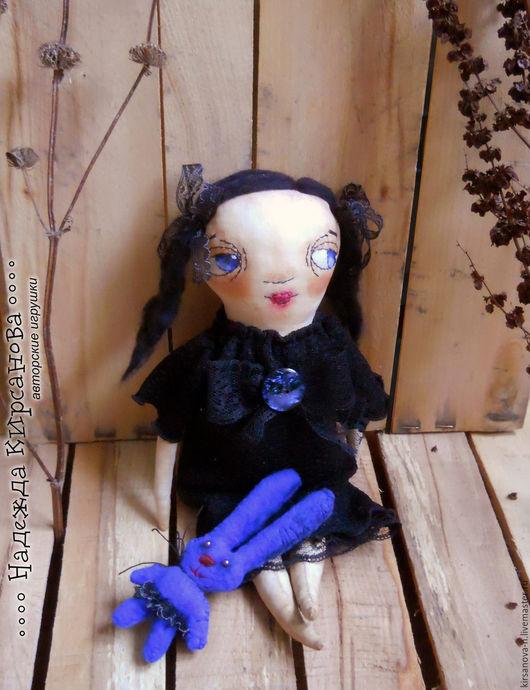 Ароматизированные куклы ручной работы. Ярмарка Мастеров - ручная работа. Купить Страшно красивая девочка. Handmade. Черный, флис, бусины