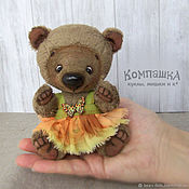 Мишки Тедди ручной работы. Ярмарка Мастеров - ручная работа Мишки Тедди: Медвежонок-девочка Юлька. Handmade.