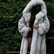 Одежда handmade. Livemaster - original item ROYAL FOX fur COAT FROM SAGA FURS HEM 220sm XXL. Handmade.
