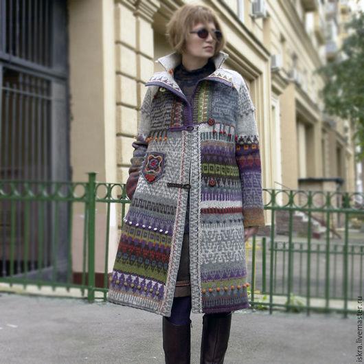 Верхняя одежда ручной работы. Ярмарка Мастеров - ручная работа. Купить Пальто легкое Теплый осенний денек. Handmade. Комбинированный
