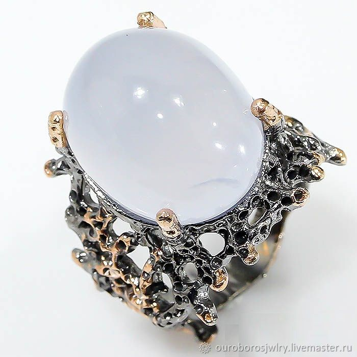 Silver ring with chalcedony, Rings, Novosibirsk,  Фото №1