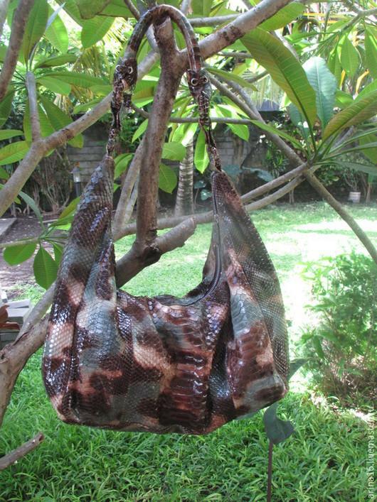 Женские сумки ручной работы. Ярмарка Мастеров - ручная работа. Купить Сумка из питона. Handmade. Разноцветный, сумка из натуральной кожи