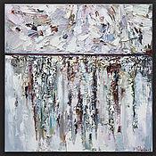 """Картины и панно handmade. Livemaster - original item """"Snow"""" white textured abstract Painting. Handmade."""