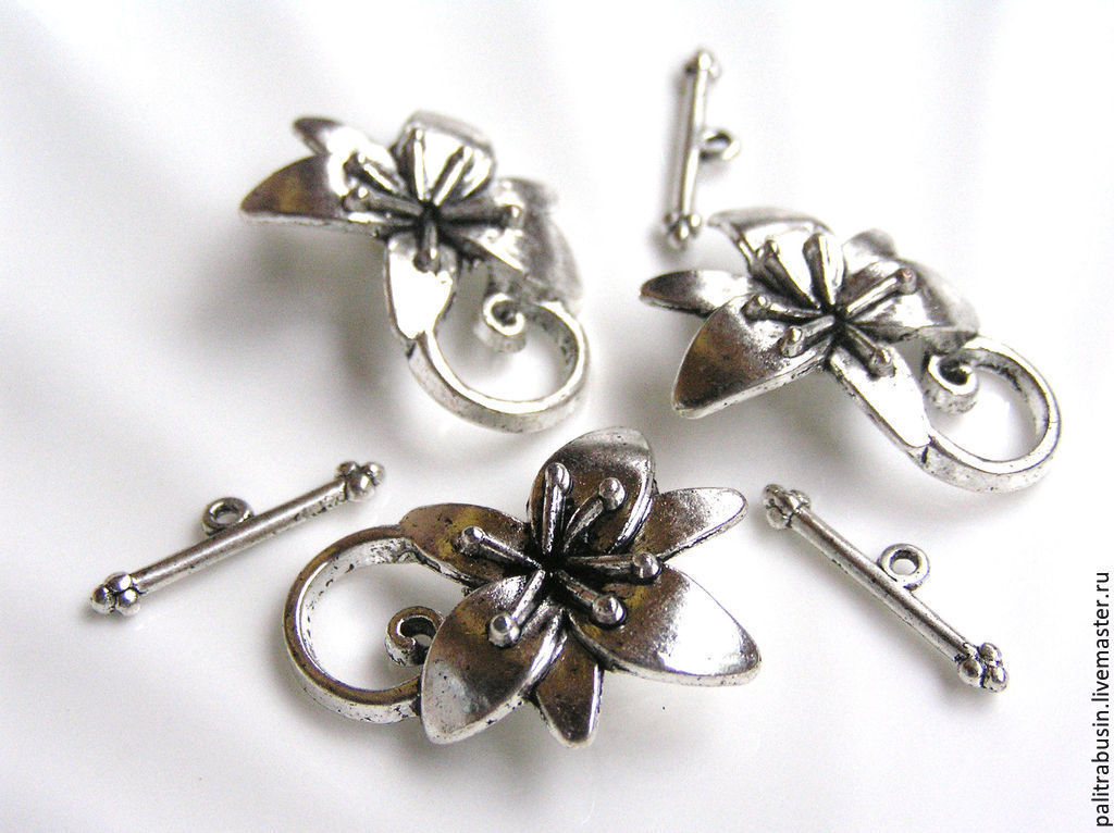 All for Jewelry Making handmade. Livemaster - handmade. Buy Castle snaps chunk buttons silver color.Silver, accessories