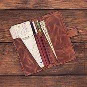 Сумки и аксессуары handmade. Livemaster - original item Travel holder for 3 passports made of Krabi leather. Handmade.