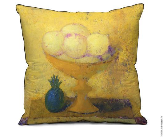 """Текстиль, ковры ручной работы. Ярмарка Мастеров - ручная работа. Купить наволочка """"ванильное мороженое"""". Handmade. Желтый, мороженое, наволочка"""