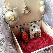 """Для дома и интерьера handmade. Livemaster - original item Шкатулка с елочными игрушками """"Зимнее волшебство"""". Handmade."""